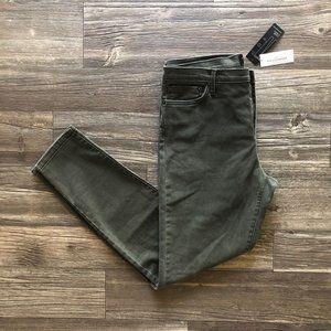 NEW Banana Republic Green Skinny Midrise Jeans